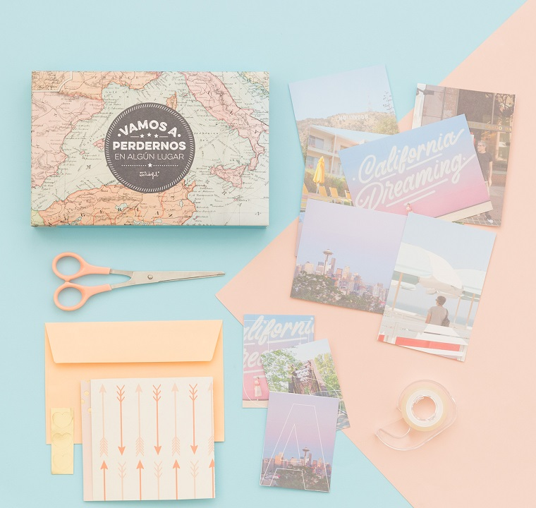 Materiali per scrapbooking, Come creare un album fotografico, foto e cartoline