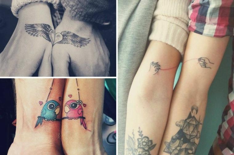 Tattoo ali di angelo, tattoo da fare insieme, disegno tattoo colorato