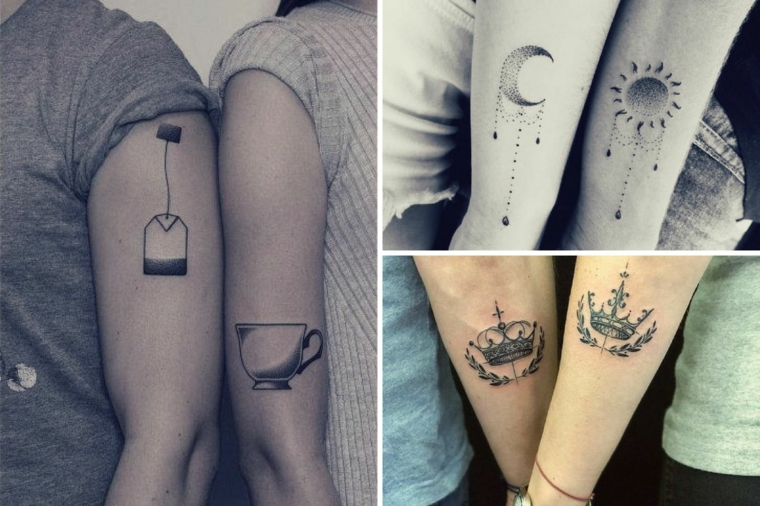 Tatuaggio uomo e donna, disegno tattoo bustina tè, tattoo tazza tè, tatuaggi braccio