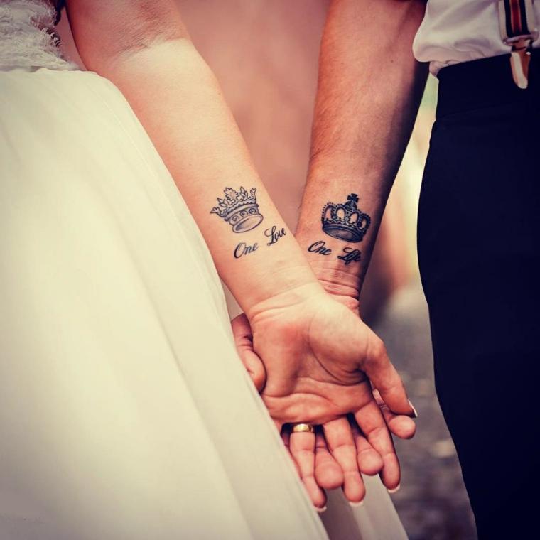 Tatuaggi significati amore, disegno tattoo corona, scritta tatuaggio polso della mano
