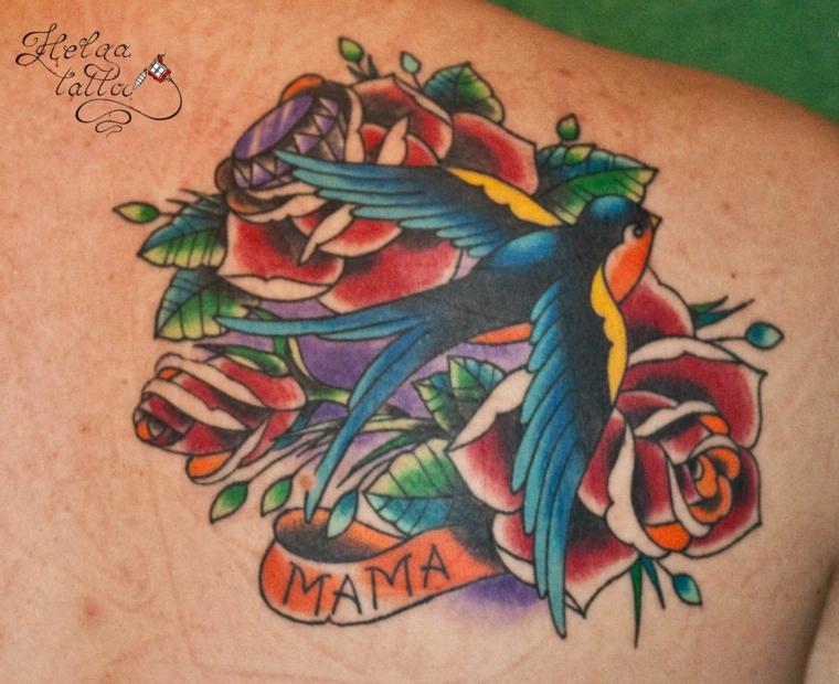 Catalogo tatuaggi, tattoo uccello, disegno tattoo rose rosse, disegno tatuaggio uomo