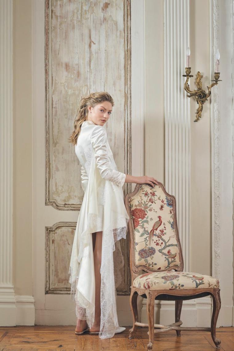 Vestito sposa Danielle Frankel, abito a manica lunga, vestiti sposa semplici