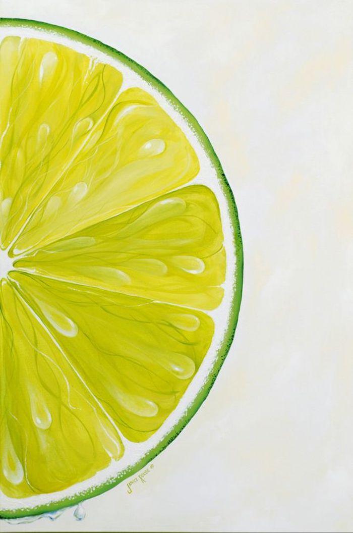 Pittura ad acquarello, disegno di un limone, uno spicchio di limone