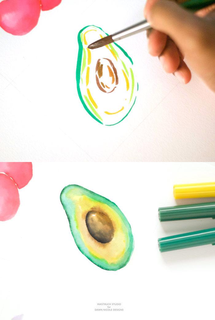 Disegni da copiare facili e belli, disegno con pennello, disegnare con gli acquarello