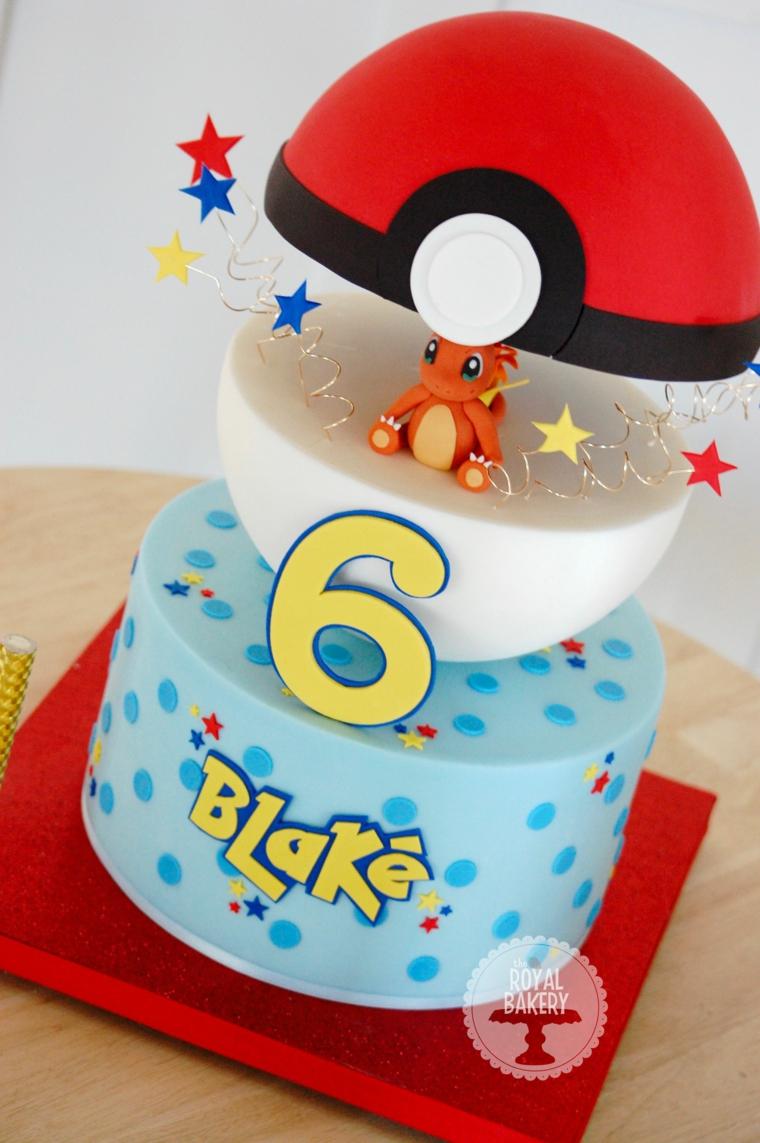 Torte di compleanno per bambini maschi, torta di pokemon, compleanno bimbo 6 anni