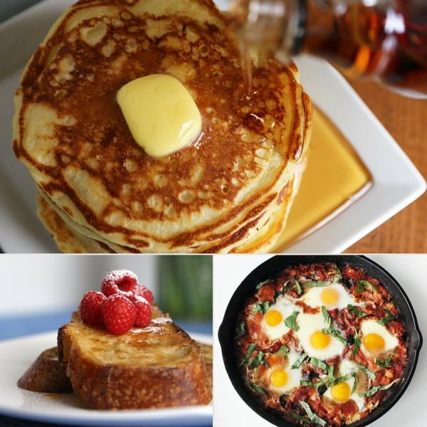 Puncake con miele, uova alla contadina, uova al tegamino, brunch significato
