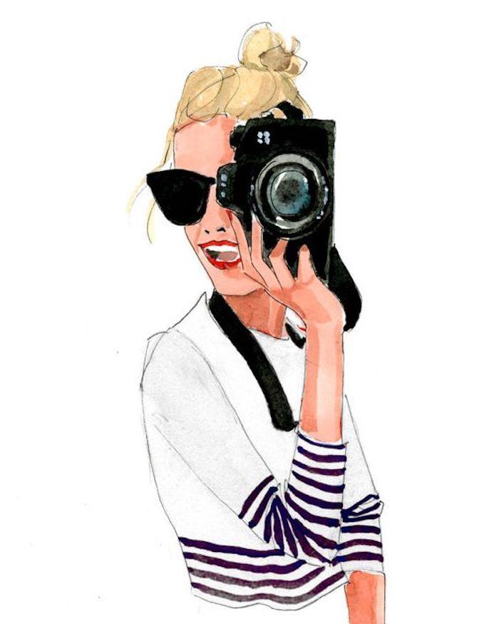 Disegna e colora, disegno di una ragazza, schizzo con colori acrilici, ragazza con capelli biondi