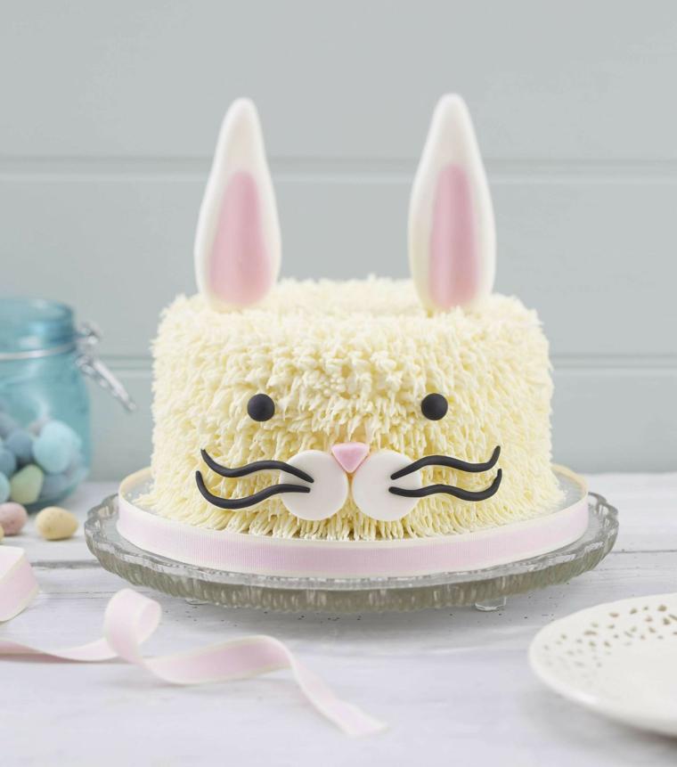 Immagini di torte bellissime, torta con crema pasticcera, decorazione torta coniglietto