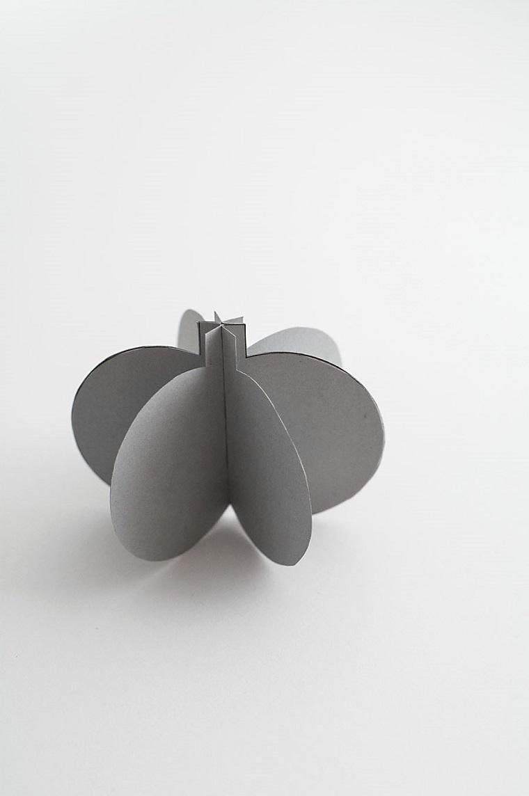 Lavoretti Halloween, cartoncino grigio 3D, mini zucca di cartoncino, carta piegata di colore grigio