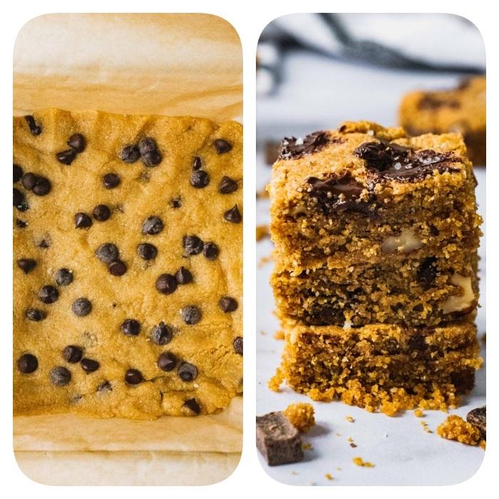 Ricetta biscotti classici, biscotti con gocce di cioccolato, impasto con burro di arachidi