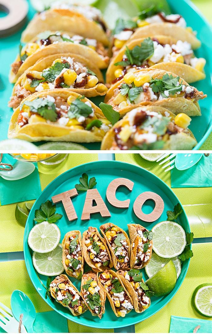 Tacos con succo di lime, come si preparano le tortillas messicane, formaggio feta grattugiato