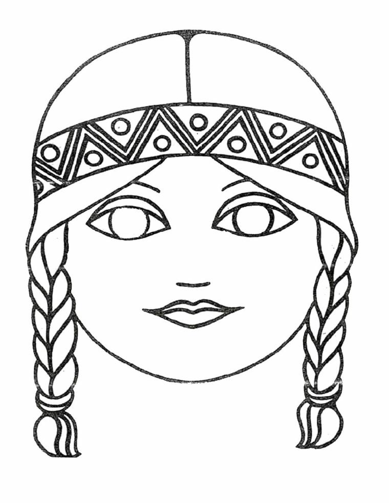 Maschere di carnevale da stampare, disegno da colorare, maschera per bimba