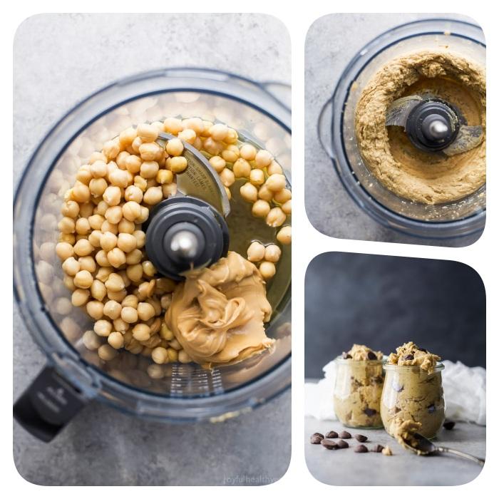Ingredienti nel frullatore, come fare i biscotti in casa, impasto per biscotti, dolce senza cottura