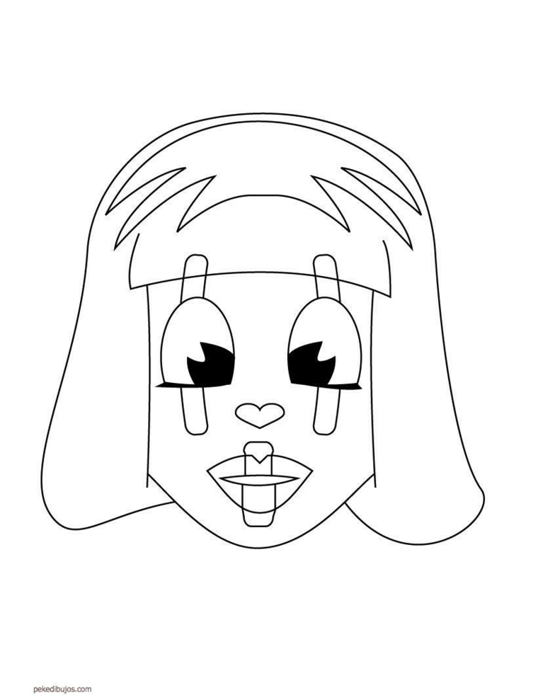 Disegni maschere di carnevale, disegno di una bimba, maschera da ritagliare colorare