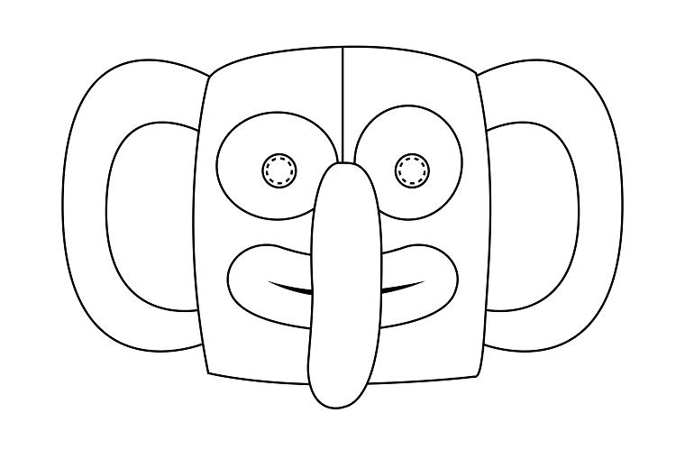 Immagini maschere di carnevale, maschera da colorare, disegno da colorare