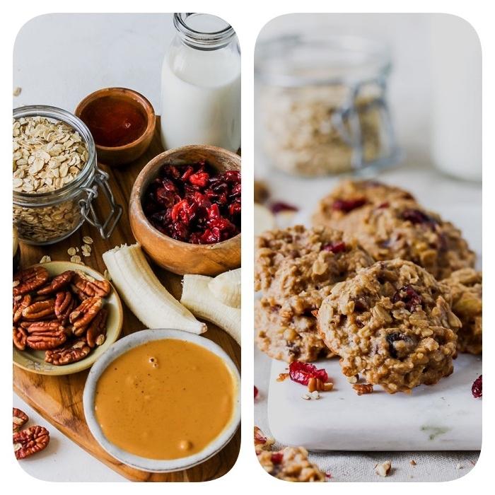 Ingredienti per biscotti, biscotti semplici e veloci da fare in casa, biscotti con frutta secca