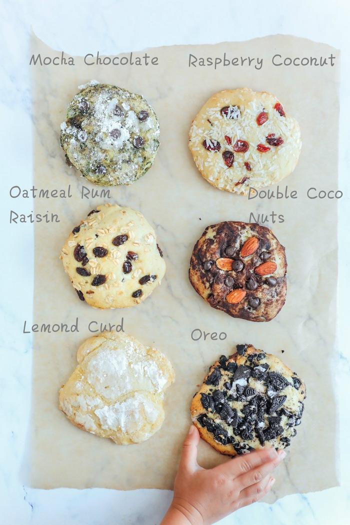 Biscotti semplici e veloci da fare in casa, biscotti con uvetta, pezzettini di cioccolato