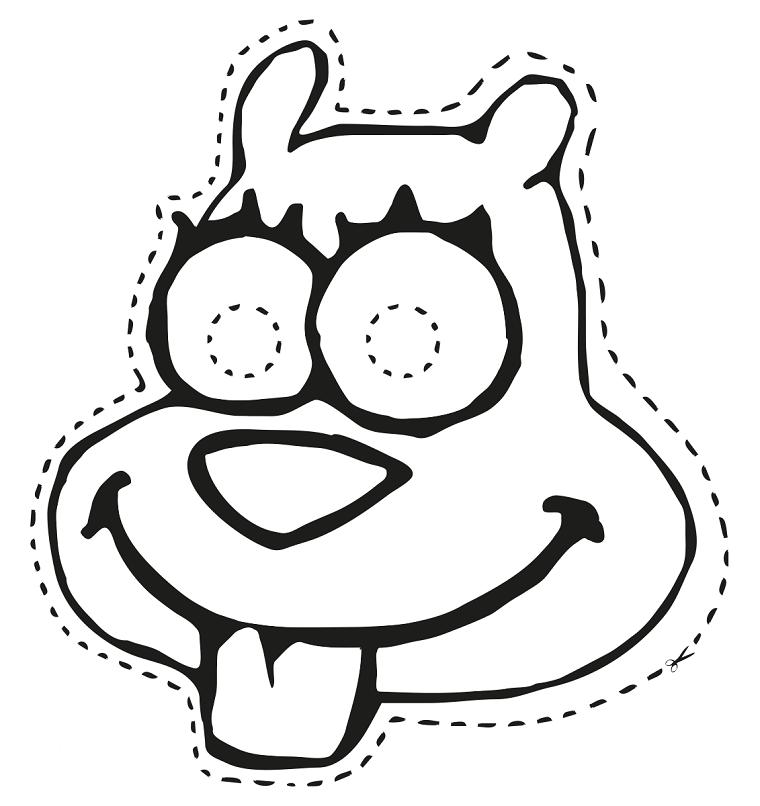 Lavoretti di carnevale per bambini scuola dell'infanzia, scoiattolo da colorare, disegno da ritagliare