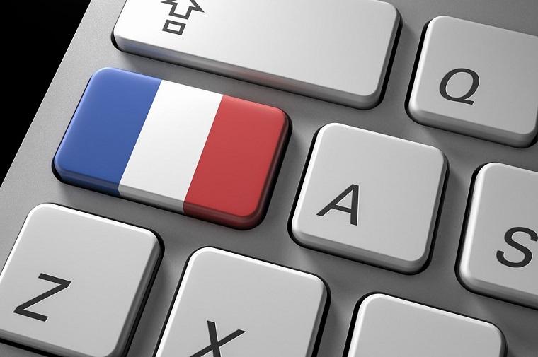 Tasti del computer, traduzioni on line, tasto con la bandiera francese