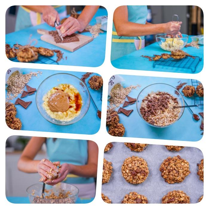 Biscotti fatti in casa ricetta, ingredienti per biscotti, tutorial per la ricetta, biscotti con fiocchi d'avena