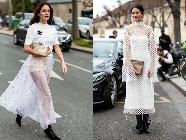 Abiti da cerimonia low cost, vestiti bianchi trasparenti, gonna in tulle trasparente, vestito bianco a rete