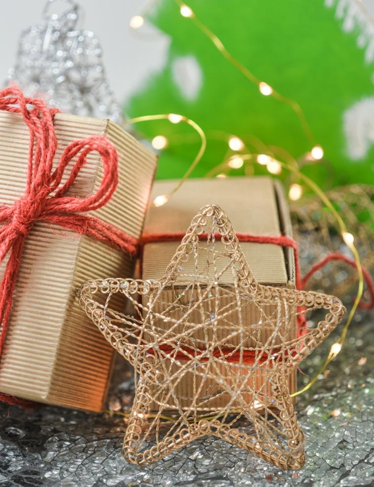 Stella con filo di ferro, addobbi natalizi, scatola regalo, cosa regalare a natale per lui
