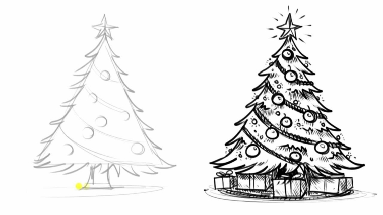 Albero Di Natale Immagini Da Colorare.1001 Idee Per Albero Di Natale Da Colorare Per Bambini