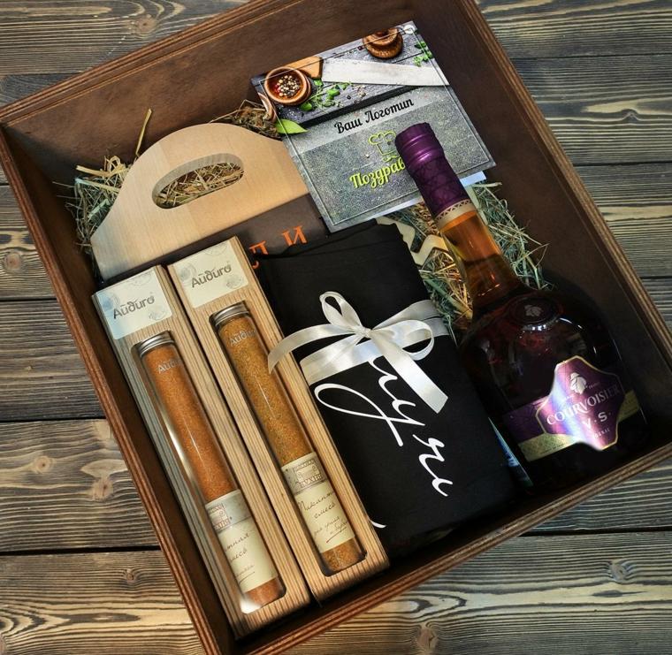 Scatola regalo per uomo, pensierini di Natale, scatola con sigari, scatola con regalini