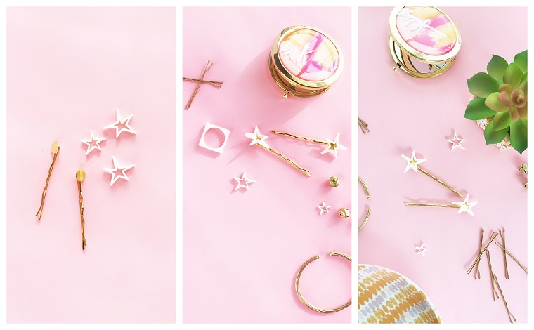 Forcine di metallo con decorazioni, tutorial per creare accessori capelli, regali romantici per lei