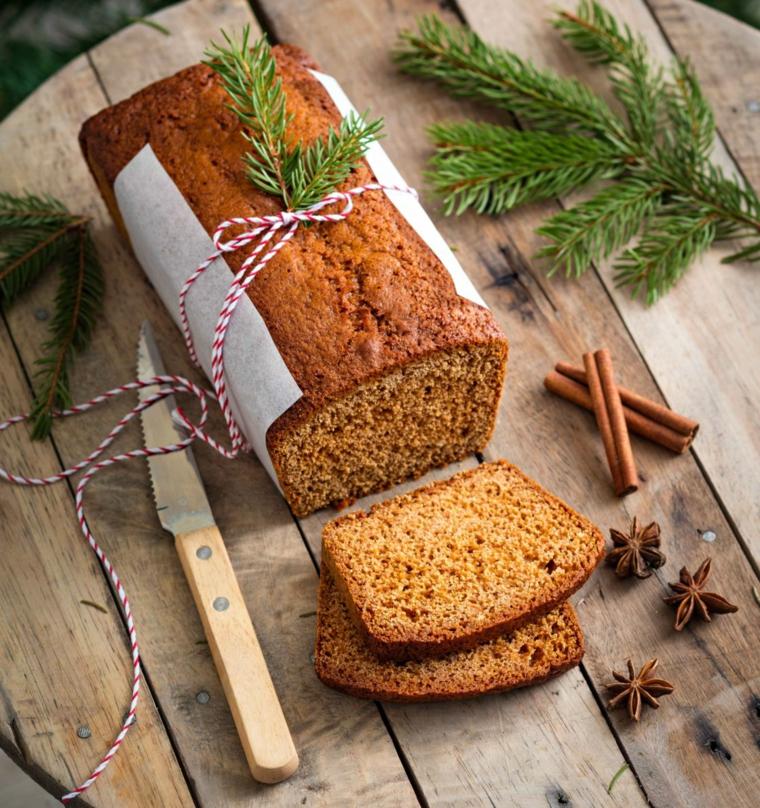 Cosa farsi regalare a Natale, pane alle spezie, rametti verdi, spago di lana bianco e rosso