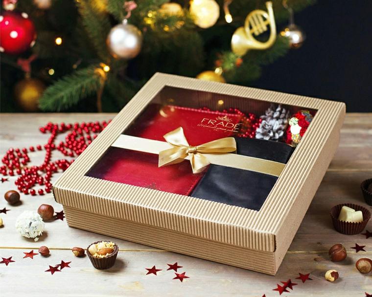 Pensierini di Natale, scatola regalo per uomo, decorazioni per albero, dolcetti al cioccolato