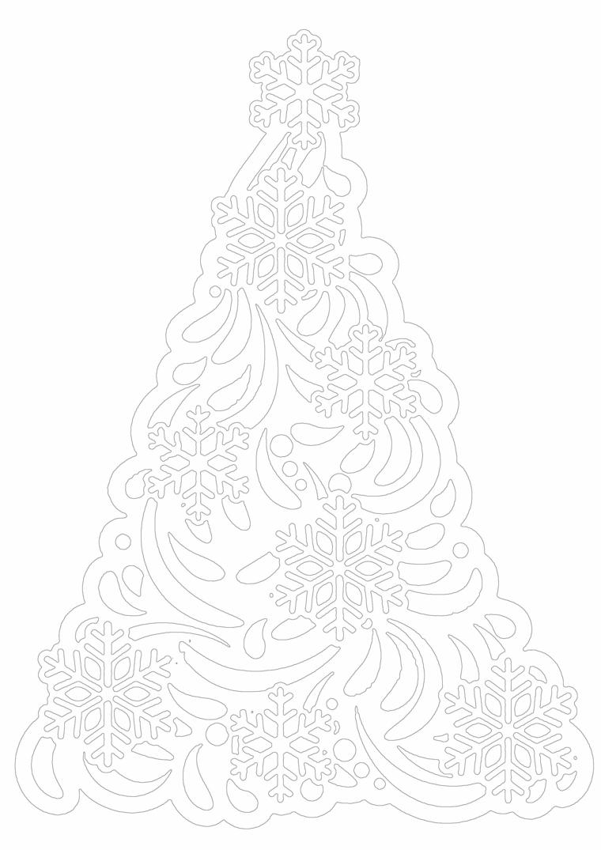 Disegno da stampare, disegni di natale da ritagliare, schizzo albero da colorare