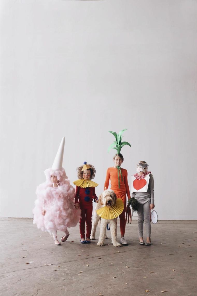Vestiti carnevale bambini fai da te, bambini con costumi, cane travestito per carnevale