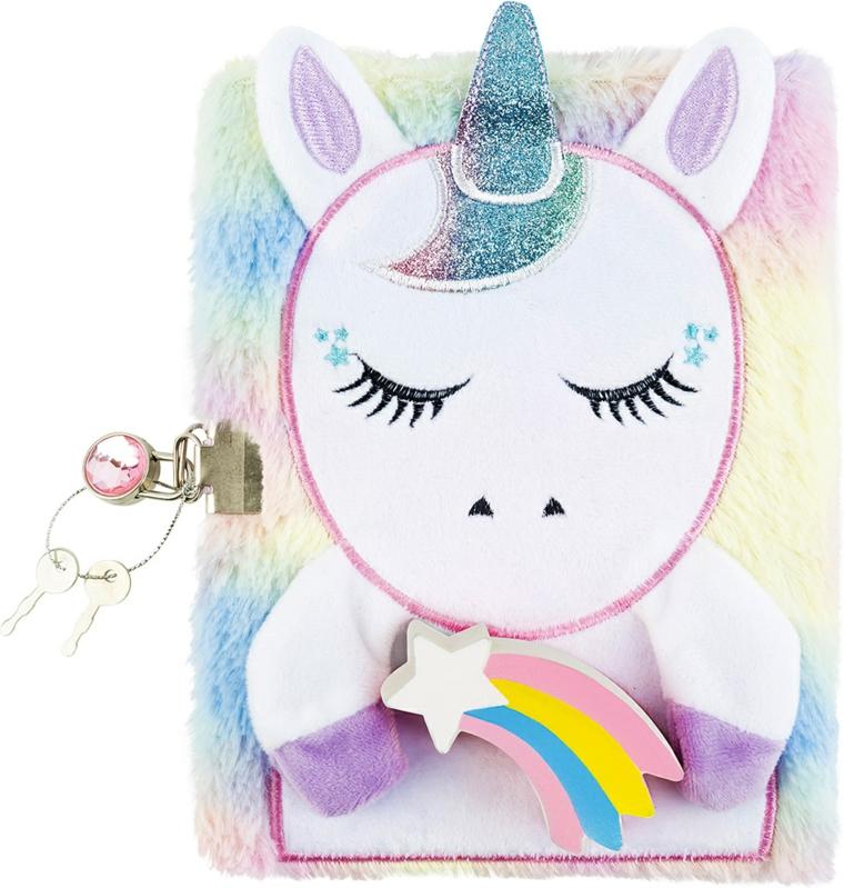 Disegno con pennarelli per tessuti, come si disegna u unicorno, diario segreto con lucchetto
