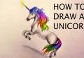 Unicorno disegno per principianti e non, da colorare e divertirsi!