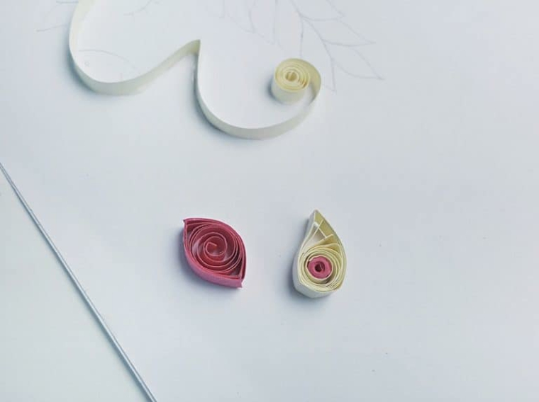 Paper quill con strisce colorate, disegni facili da colorare, incollare con colla vinilica