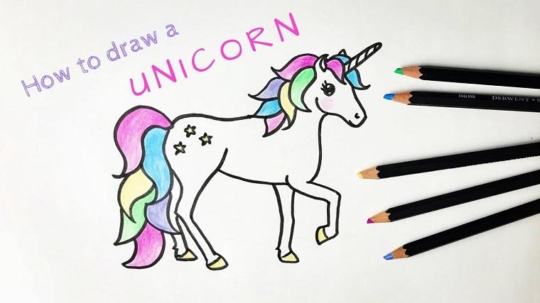 Come Colorare Un Disegno.1001 Idee Per Unicorno Disegno Da Colorare E Non
