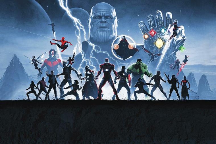 Disegno grafico degli di Avengers, immagine per il desktop del computer