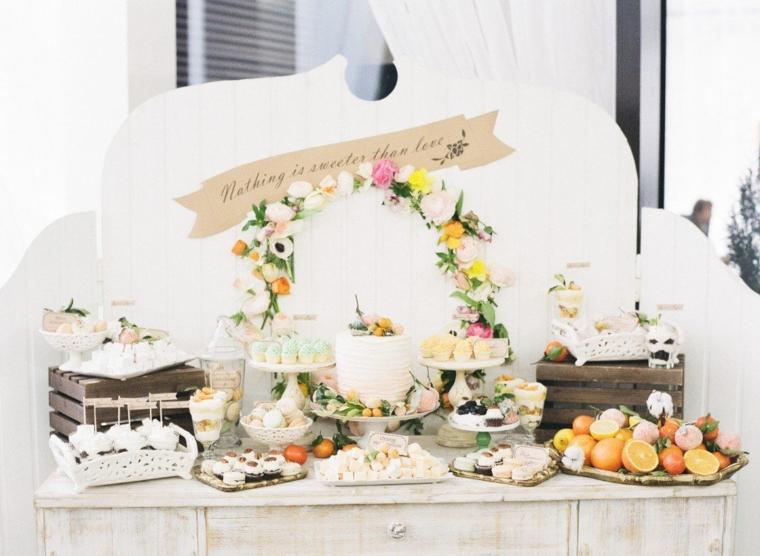 Banchetto con torta di matrimonio e dolci, come organizzare un matrimonio