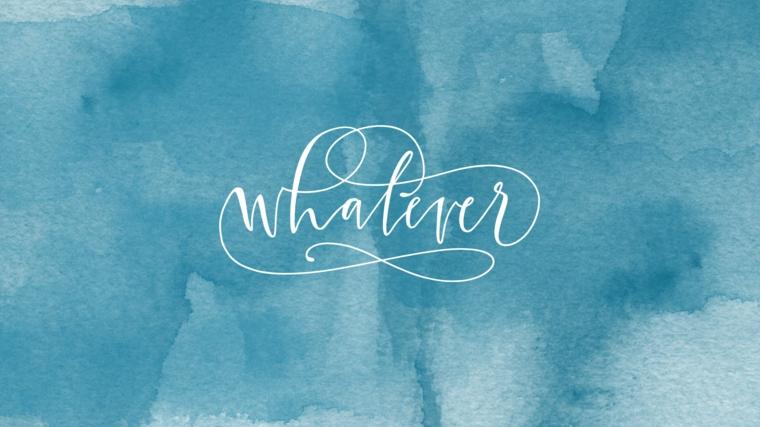 Sfondi per desktop, immagine con sfondo di colore azzurro, wallpaper con scritta in inglese