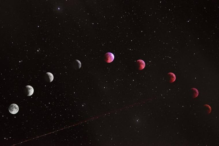 Foto delle fasi della luna, immagine per il desktop dello schermo del computer