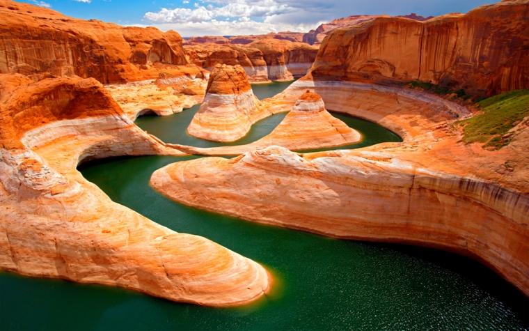 Foto per lo schermo del pc, foto di montagne e fiume, wallpaper per il computer