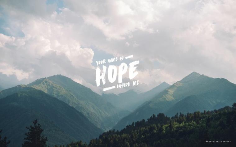 Immagine per lo schermo del computer, foto di una montagna con scritta