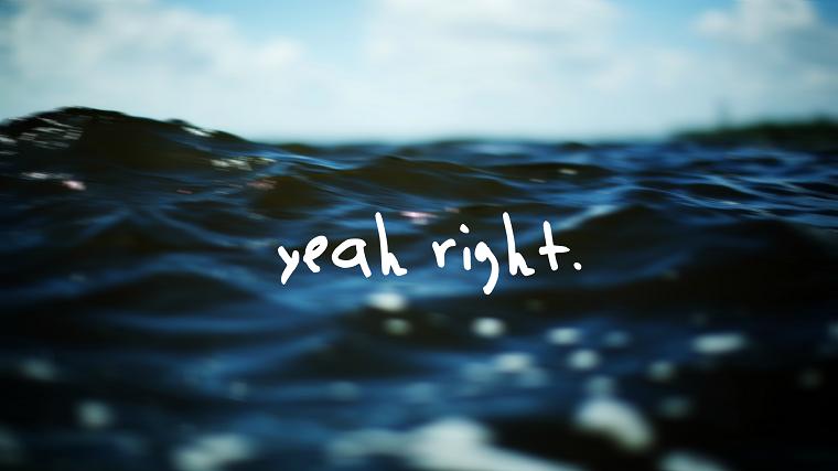 Sfondi particolari, foto delle onde del mare, immagine con foto e scritta in inglese