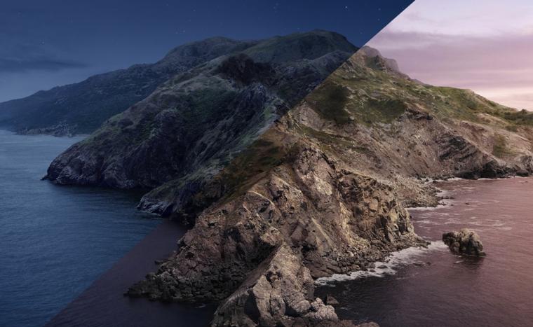 Immagine di un'isola con montagna, foto wallpaper per lo schermo del computer