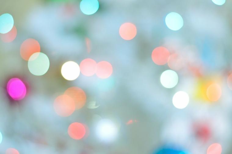 Foto di luci colorate, immagine per il desktop del computer, foto con luci sfocate
