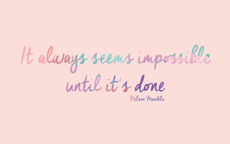 Sfondi bellissimi, sfondo di colore rosa, citazione con scritta in inglese