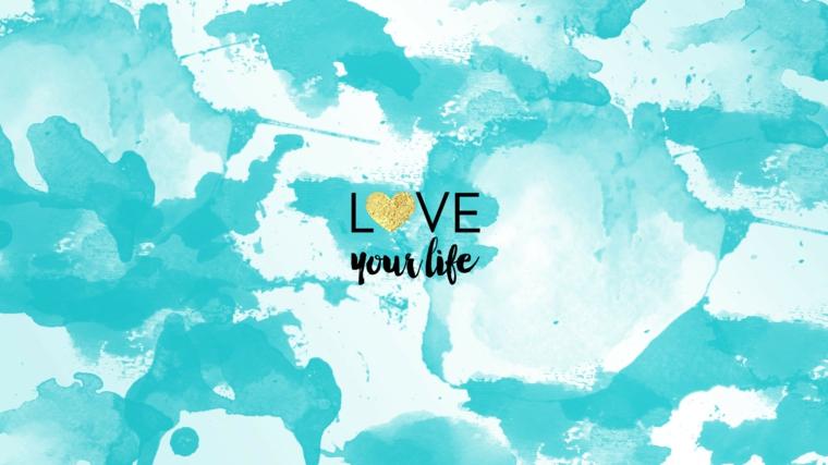 Immagine con sfondo di colore azzurro bianco, immagine con scritta, sfondi per desktop
