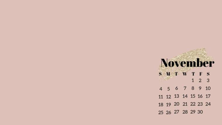 Sfondi particolari, immagine per lo schermo del libro, immagine con calendario di novembre