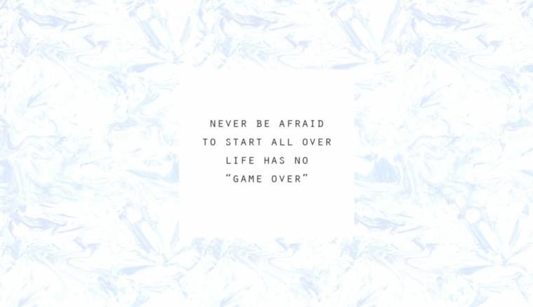 Immagine con scritta in inglese, sfondi particolari, sfondo di colore bianco azzurro